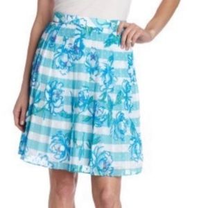 Lilly Pulitzer Virginia stripe floral skirt